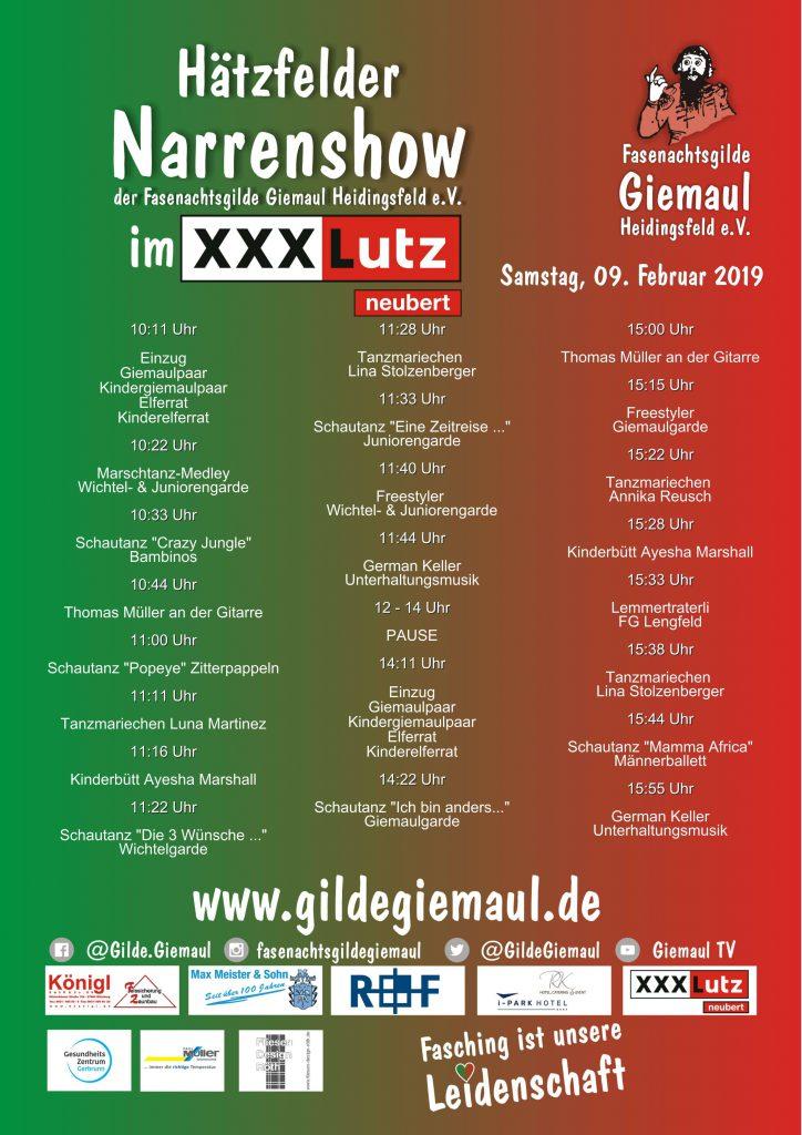 Hätzfelder Narrenshow Im Xxxlutz Neubert Gilde Giemaul